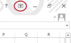 エクセルのメニューバーの表示コントロール