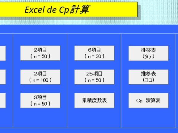 Excel de Cp計算エクセルテンプレート