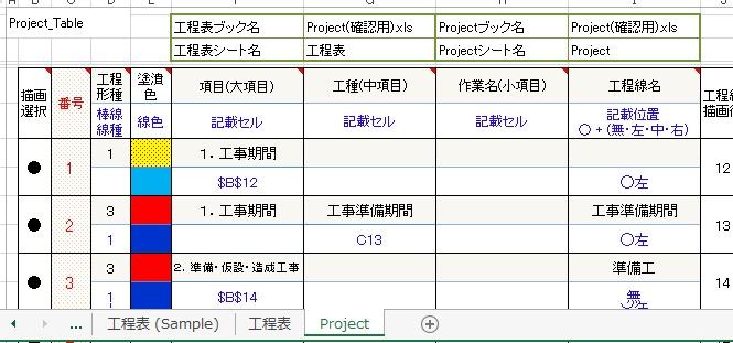 工程表ツール f excel 新作エクセル 関数やマクロを使った テンプレート