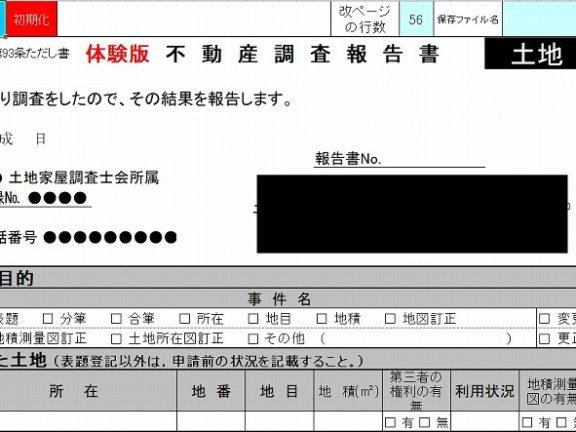 エクセルで調査報告書