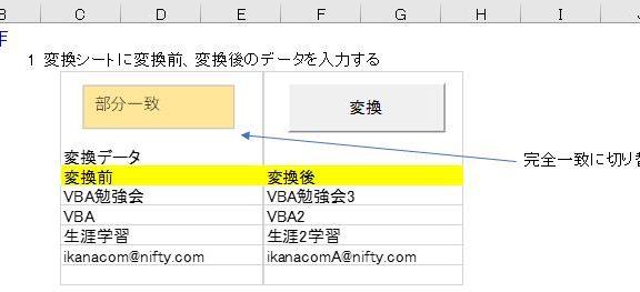 エクセルの全データ置換ツール