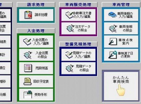 自動車販売・整備業専用ソフト