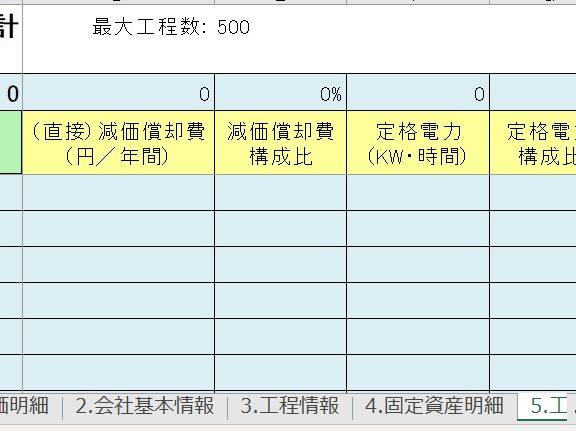 エクセル儲かる標準原価計算テンプレート