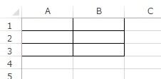 格子状に罫線を挿入した例