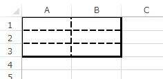 罫線を点線に変えた例