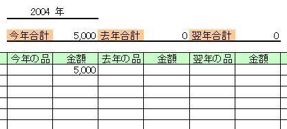 中元歳暮管理表のエクセルテンプレート
